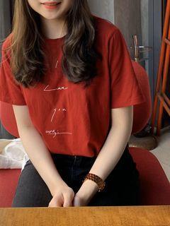 正韓🇰🇷紅色短袖
