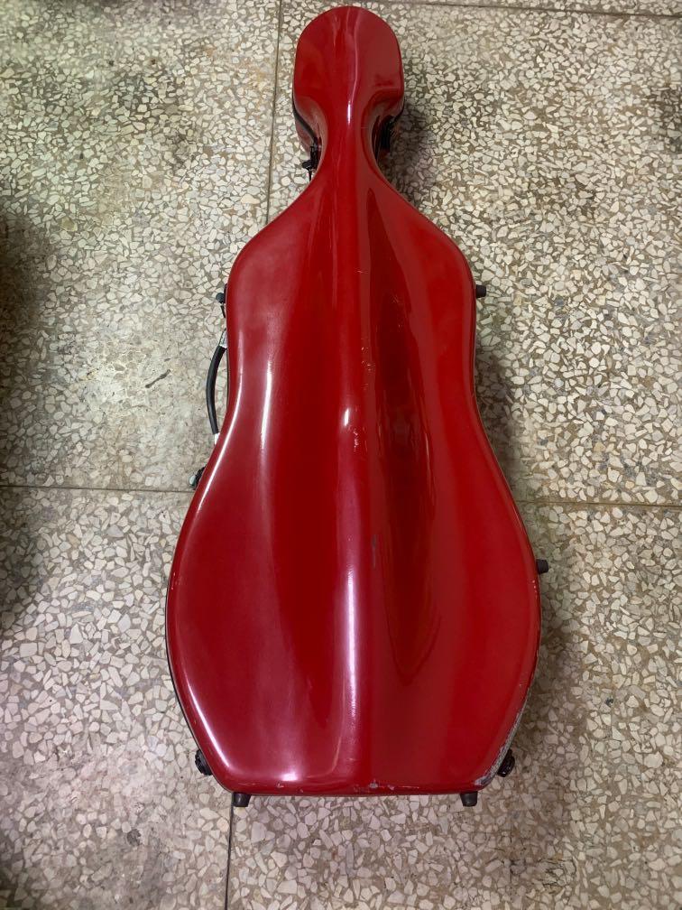大提琴  拉輪式 硬殼 盒  無配件
