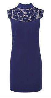 (英國購入 全新) Karen Millen 晚宴洋裝 (質感藍色,實品顏色較照片深)