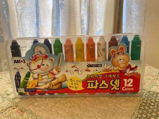 AMOS 12色彩蠟筆