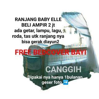 BISA GOJEK preloved Ranjang bayi baby elle baby box bisa seperti baby bouncher  baby cots baby cribs ranjang bayi lipat