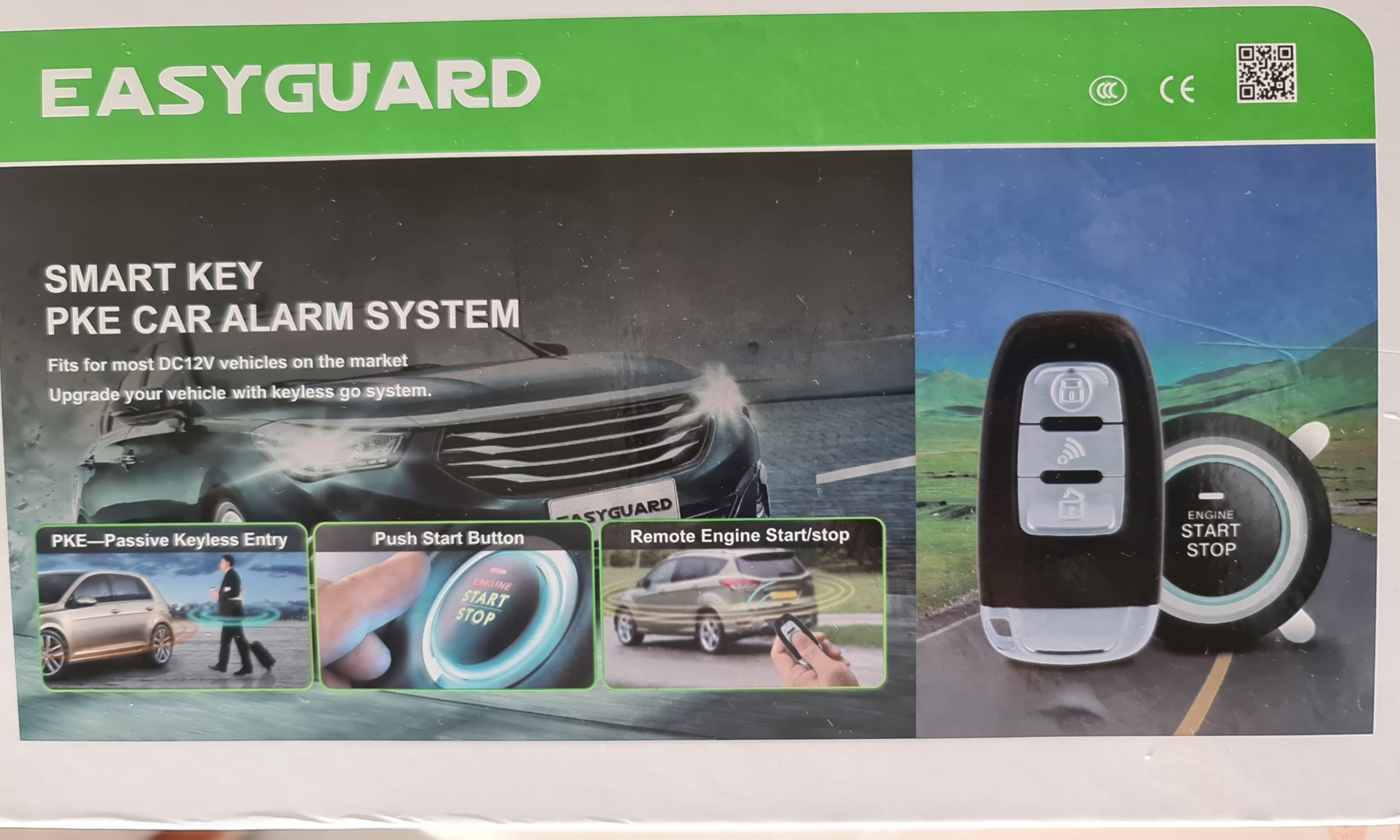 Easyguard Car Alarm System With Pke Passive Keyless Entry