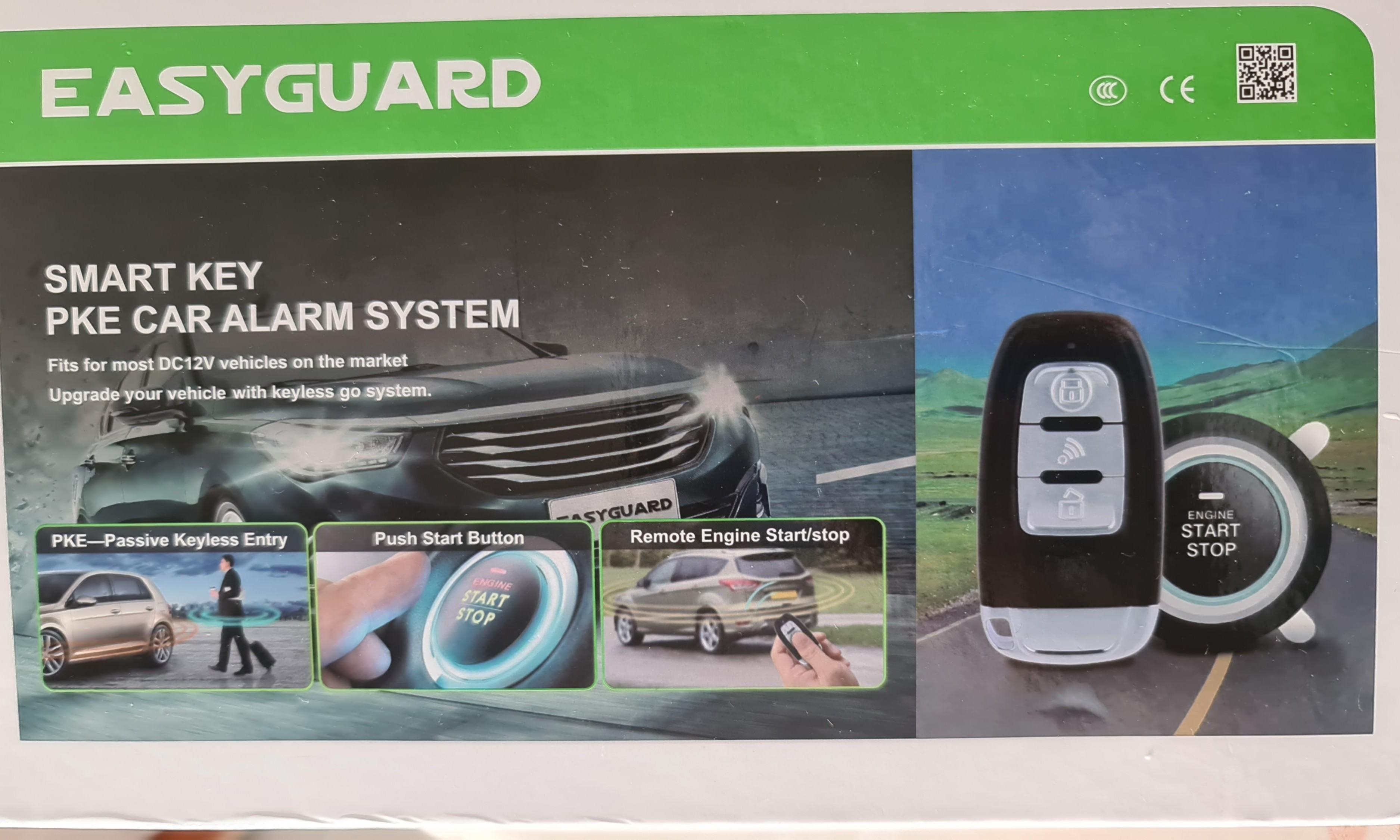 Easyguard Car Alarm System With Pke Passive Keyless Entry Remote Engine Start Security Alarm