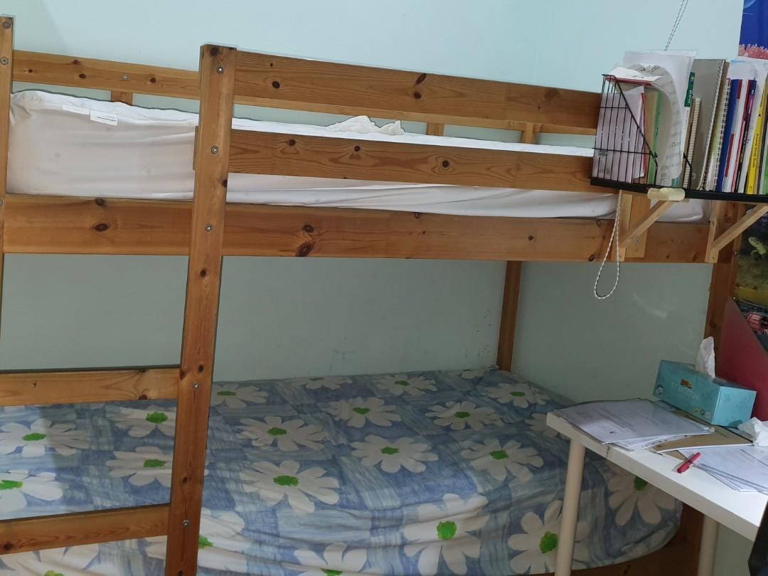 Picture of: Ikea Bunk Bed Frame Furniture Beds Mattresses On Carousell