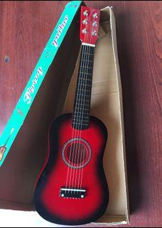 Little Red Guitar - Like Real Play Pretend - New Broken Box
