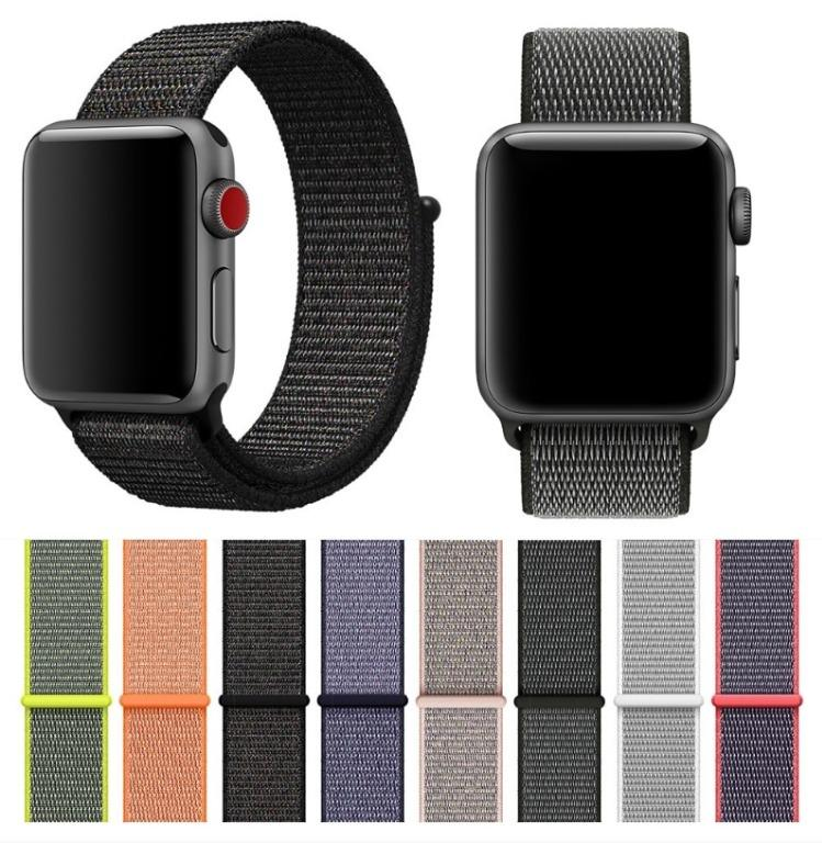 Apple Watch Nylon Fabric Loop Velcro Bands for All Series and Sizes