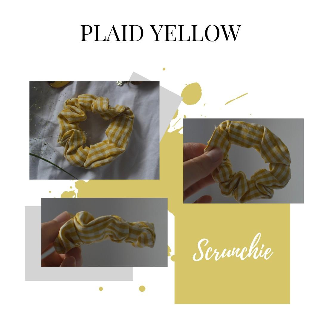 NEW scrunchie kuning kotak