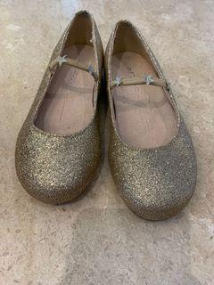Next gold glitter shoes
