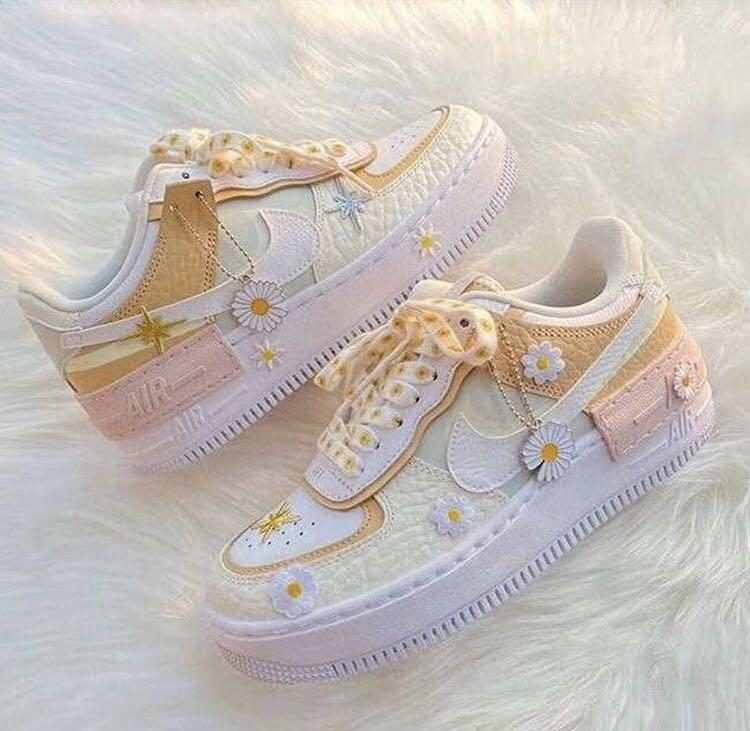 Nike Air Force 1 Shadow Spruce Aura Daisy Women S Fashion Shoes Sneakers On Carousell