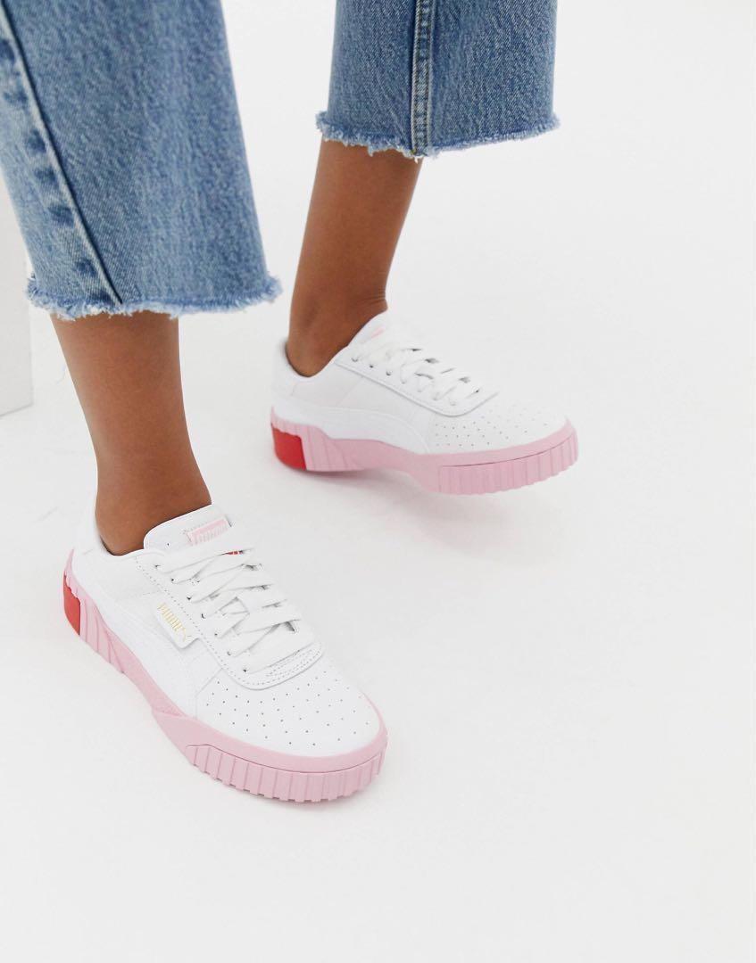 Puma Cali White \u0026 Pink, Women's Fashion