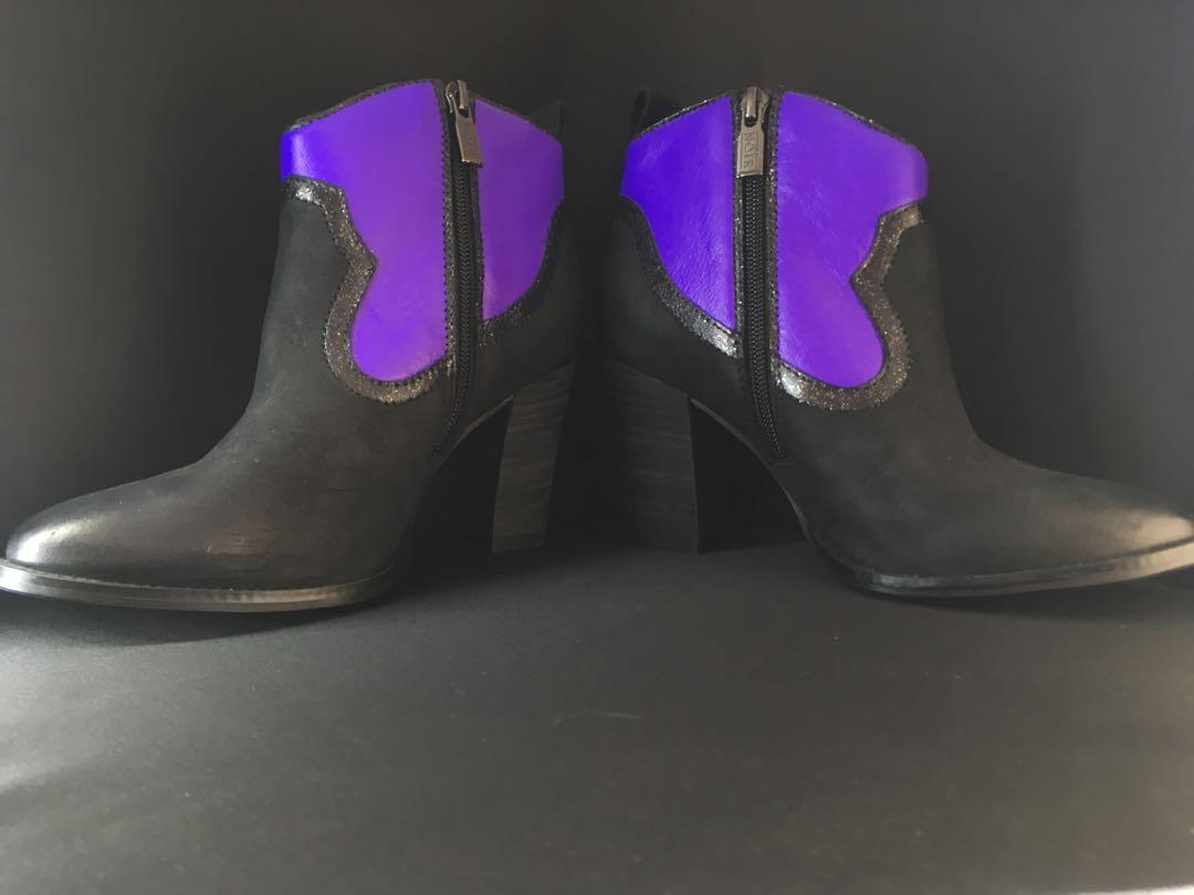 Purple & Black boots