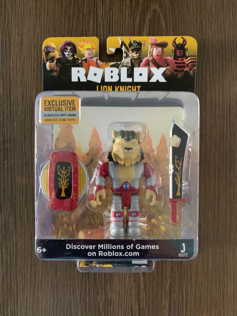 Instocks Roblox Figurines Roblox Lion Knight Toy Toys Games Bricks Figurines On Carousell