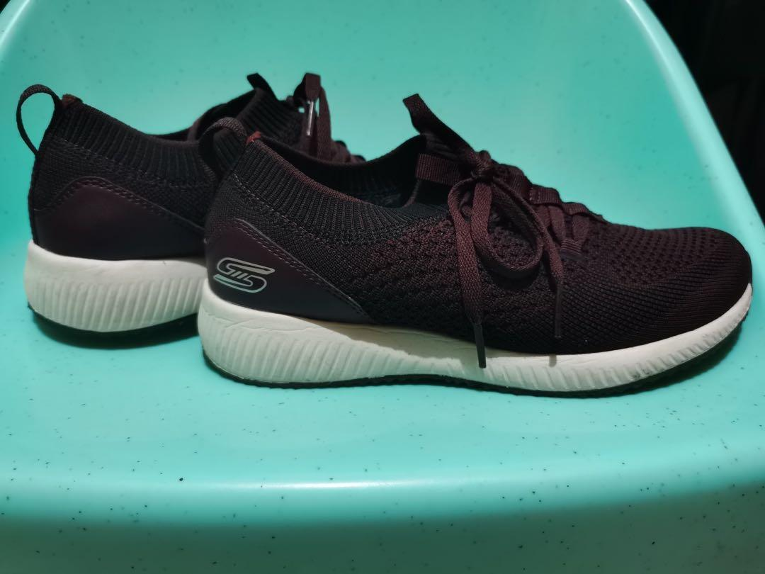 Running Shoes Bobs Squad Burgundy Size