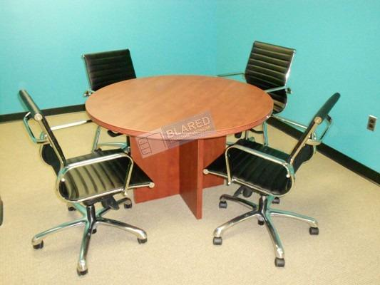 Round Table Small Conference Table Office Furniture Home Furniture Furniture Fixtures Tables Chairs On Carousell