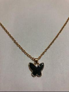 Necklace with Butterfly Pendant (Black)