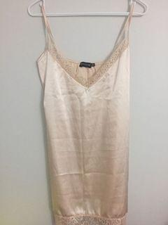 New. Never worn pink lace dress