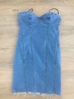 Small jean mini dress