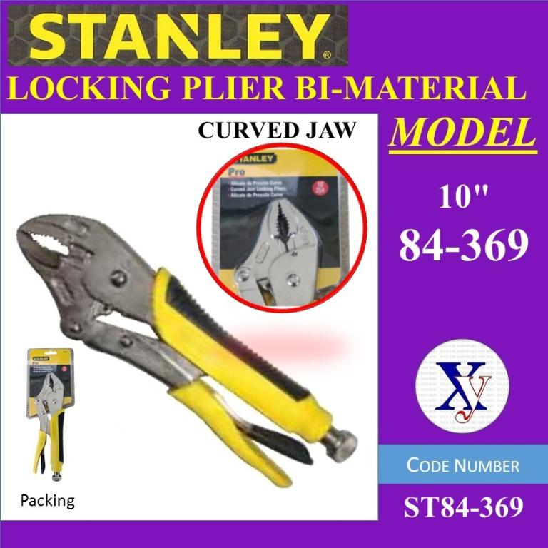 Stanley 84-369-1 254mm Curved Jaw Locking Pliers