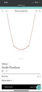 TIFFANY AND CO NECKLACE WITH PACKAGING