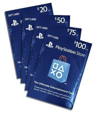 US Sony Playstation Network Gift Card $20, $50, $100