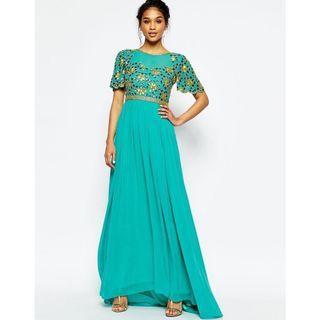 "VIRGOS LOUNGE ""Anastasia"" embellished maxi gown"