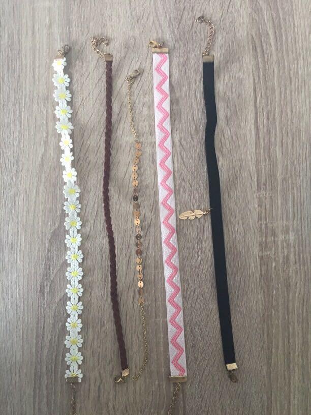 5x choker necklaces SET