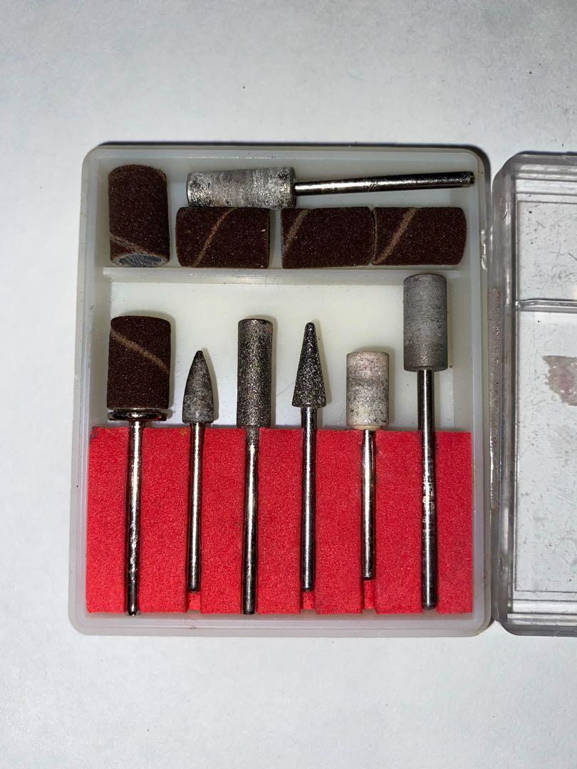Acrylic nail drill bits