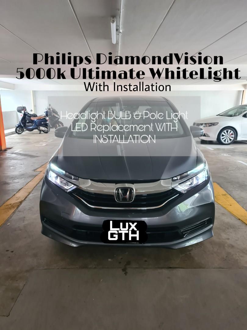 Fits Honda Civic MK7 100w Super White Xenon HID High//Low Beam Headlight Bulbs