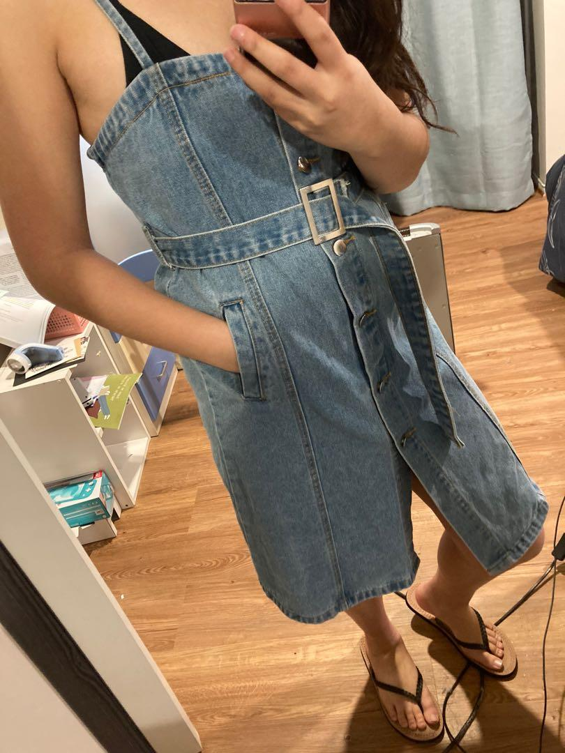Cute Button-Up Denim Dress