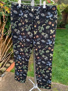 H&M EMBROIDERED PANTS