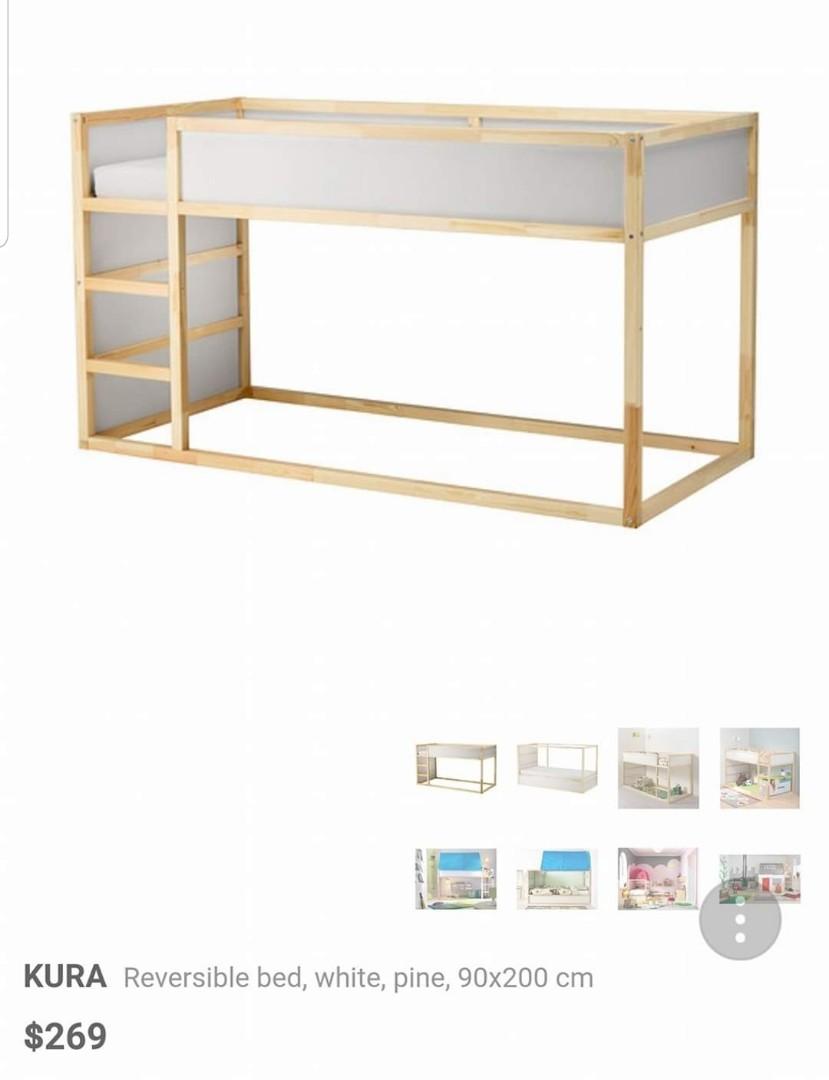 Ikea Kura Bed Furniture Home Living Frames Mattresses On Carousell