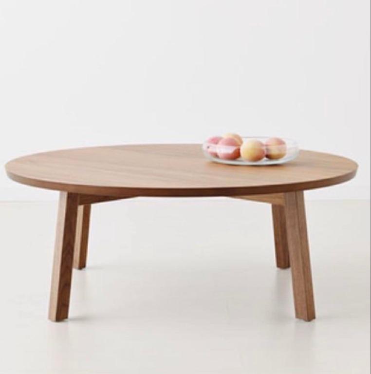 Ikea Stockholm Walnut Round Coffee Low, Ikea Round Table