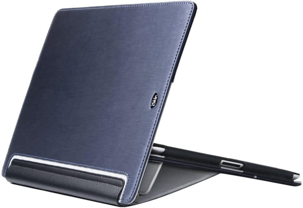 iSkin Deluxe Folio with Typing and Viewing Stand Case for iPad 2/New iPad (Blue)