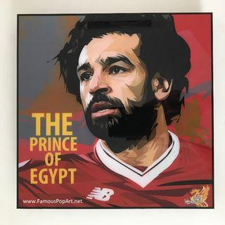 LIVERPOOL Mohamed Salah PopArt! Portrait Pop Art