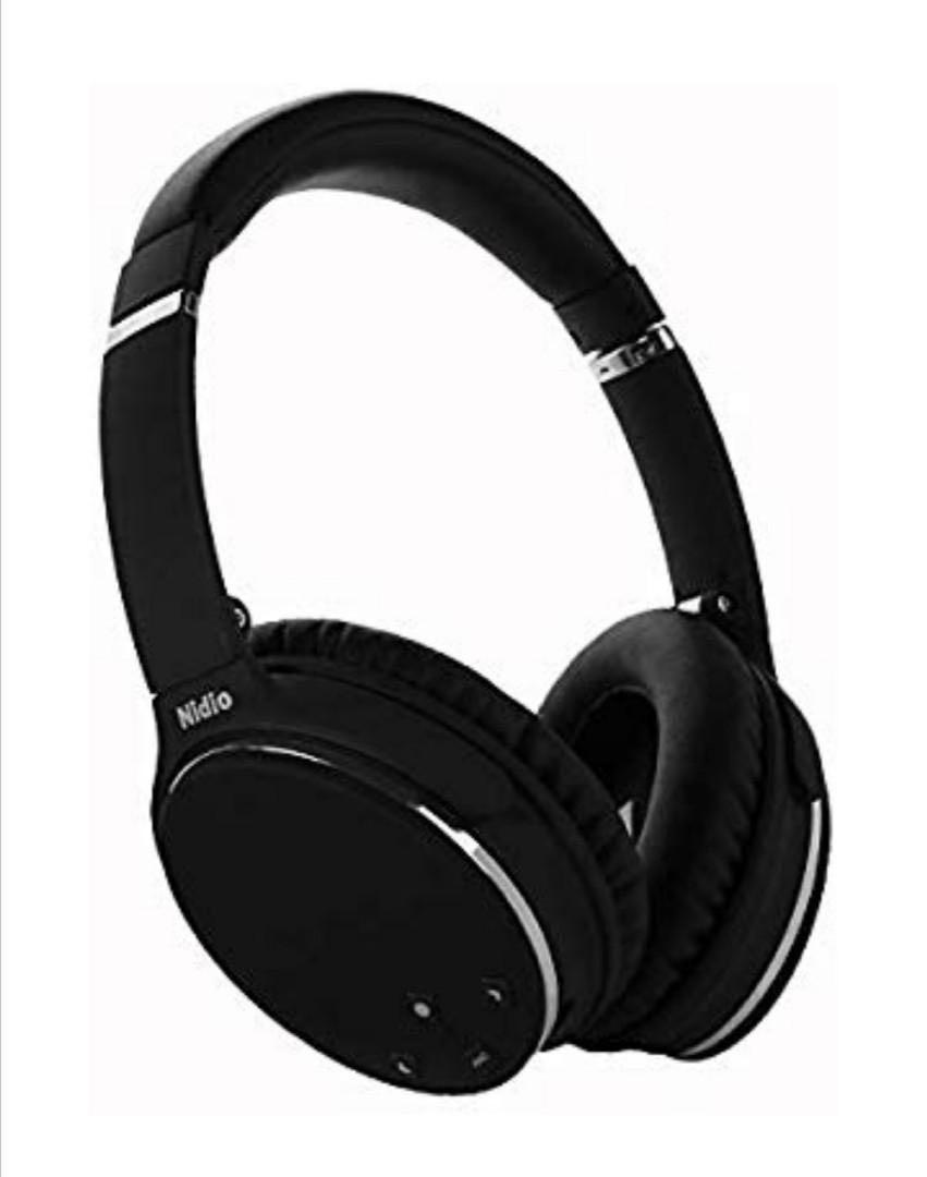 Noise Cancelling Headphones  Nidio Bluetooth Wireless Over