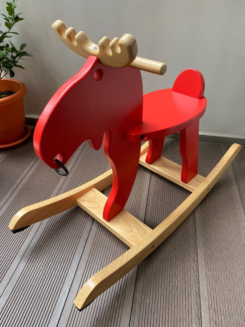 Rocking Horse Moose Babies Kids Toys Walkers On Carousell