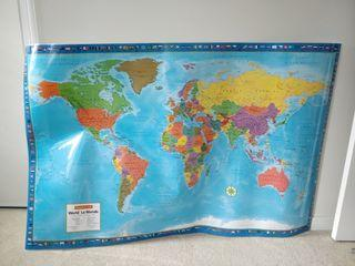 World Map Large Bulletin Board Size