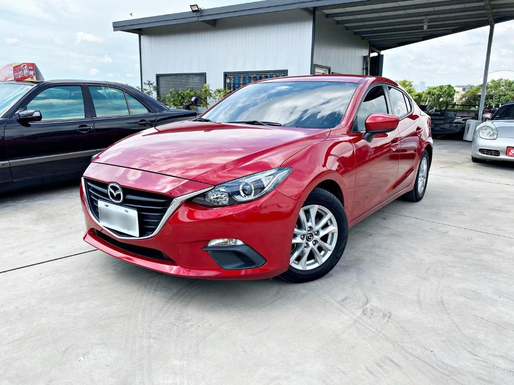 正2016年式 原廠魂動紅 Mazda3 馬3 [安卓機 免鑰匙] '振興券現折6千' 多貸10萬 週轉金 自售 K12 K14 伊倫強 520D 佛提斯 阿提斯 鯊魚頭