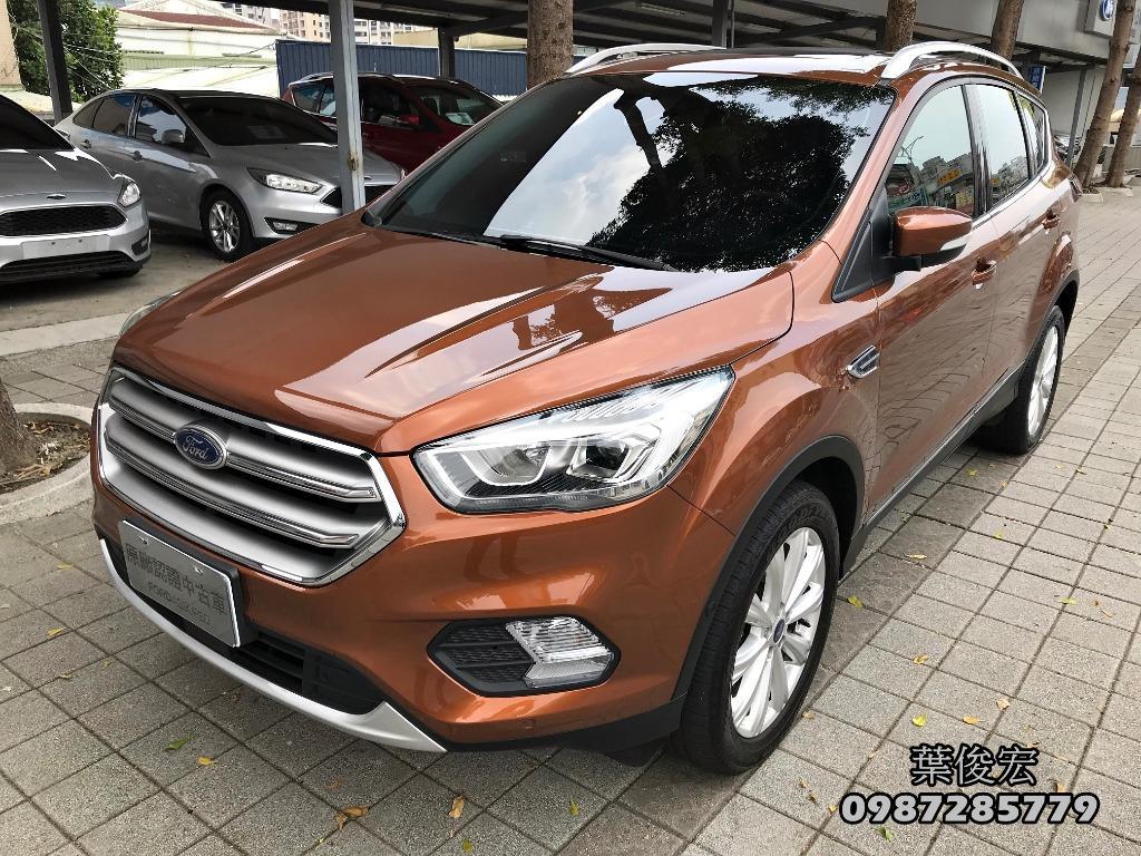 福特原廠認證中古車2018年Ford KUGA TDCI 2.0柴油渦輪 AWD智慧四傳 原廠認證 原廠延長保固