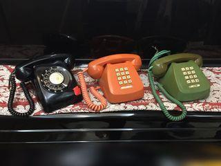 早期按鍵式老電話/早期轉盤式老電話☎️ #復古電話 #老式電話