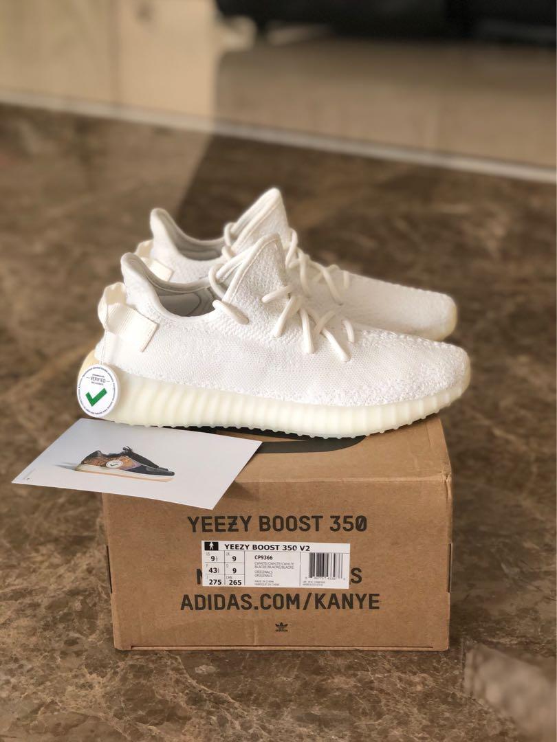 adidas yeezy boost 350 cream/white us 9