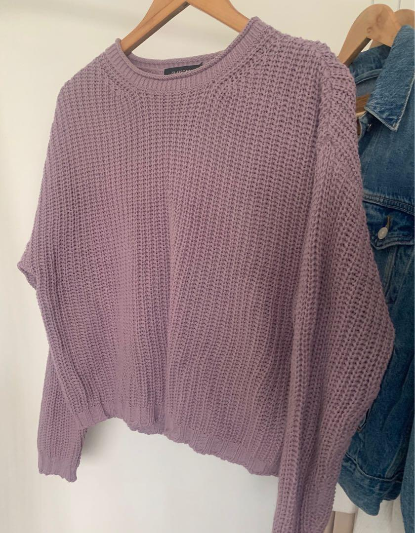 Glassons Cropped Knitted Jumper - BRAND NEW