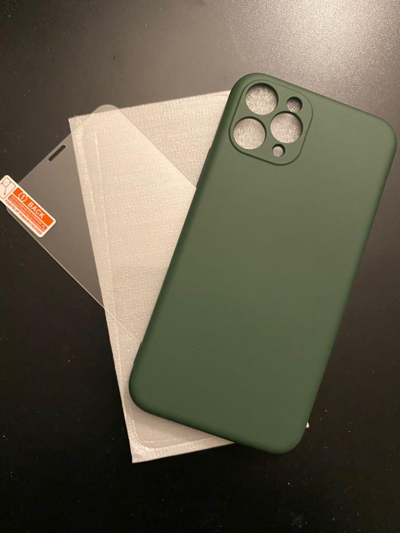 iPhone 11 pro case and glass screen protector