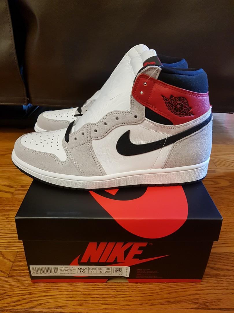 Jordan 1 Smoke Grey. Size 10, 9.5