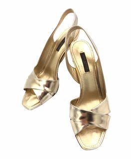 Louis Vuitton 金色高跟鞋 36.5號