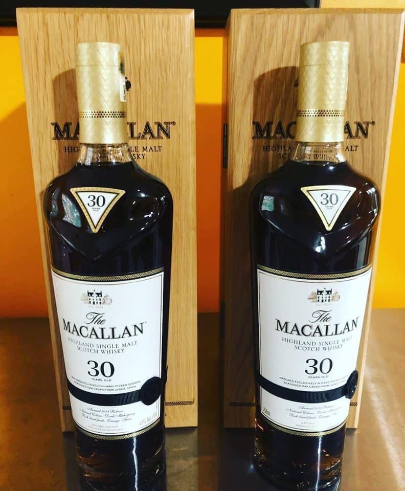 Macallan 30 sherry oak (2019) X 2.