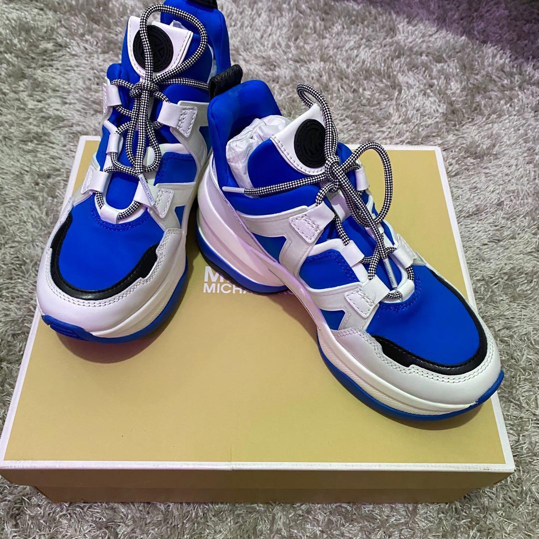 michael kors blue trainers