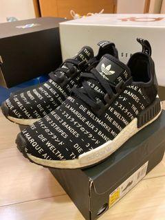 NMD R1 黑色 日文 滿版文字 adidas #newstart