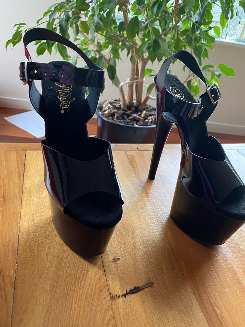 Pleaser  black Stripper high heels 709