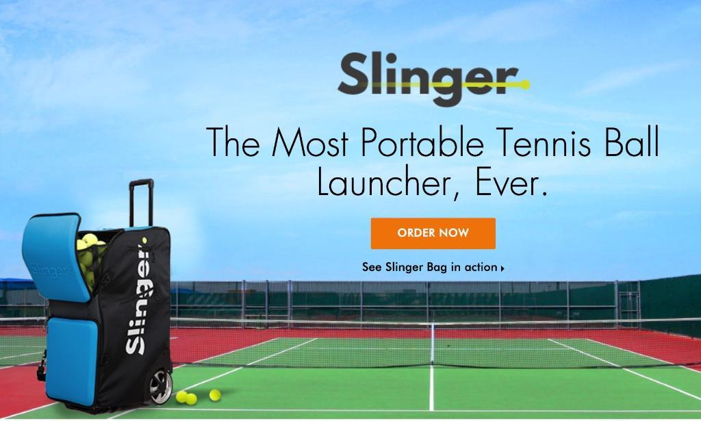 Brand New Tennis Ball Machine Slinger Sports Sports Games Equipment On Carousell